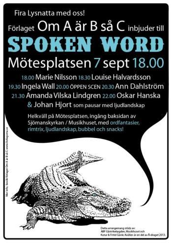 spoken word Gävle